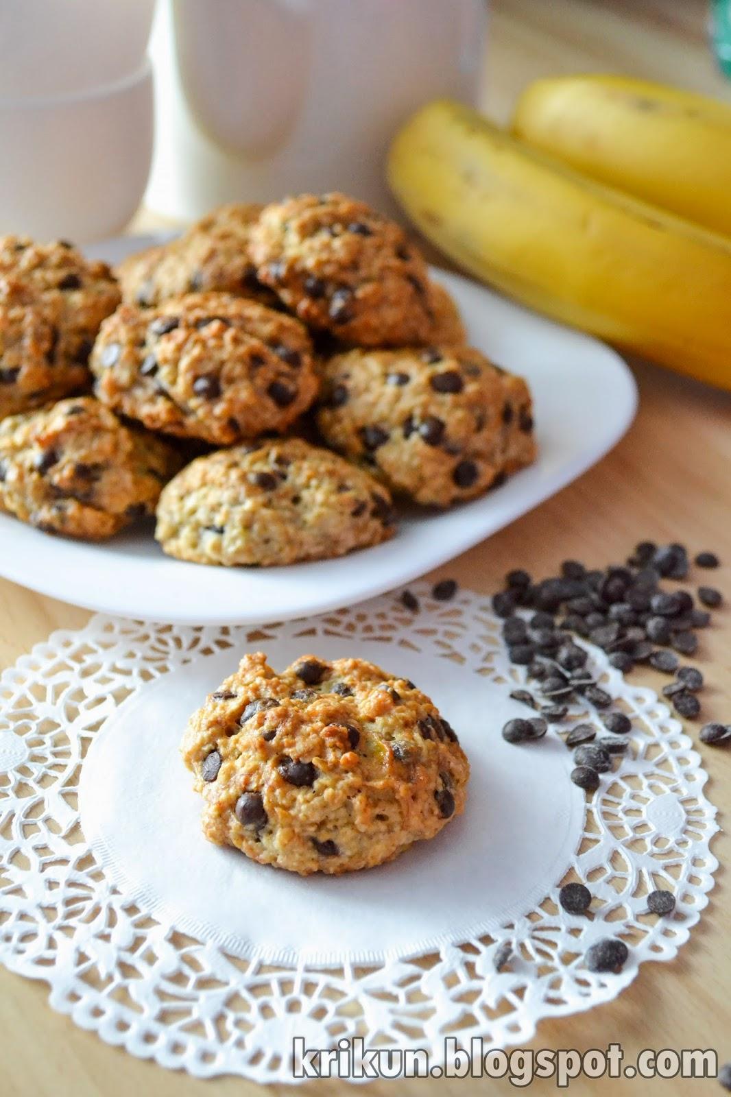 Банановое печенье с овсянкой рецепт